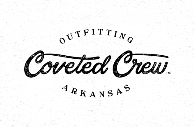 sam broom coveted crew clothing company logo graphic design outfitting arkansas