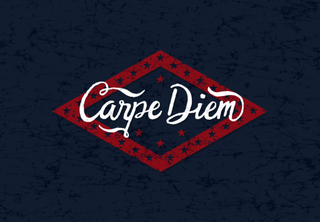 sam broom carpe diem arkansas flag hand lettering illustration graphic design coveted crew clothing company