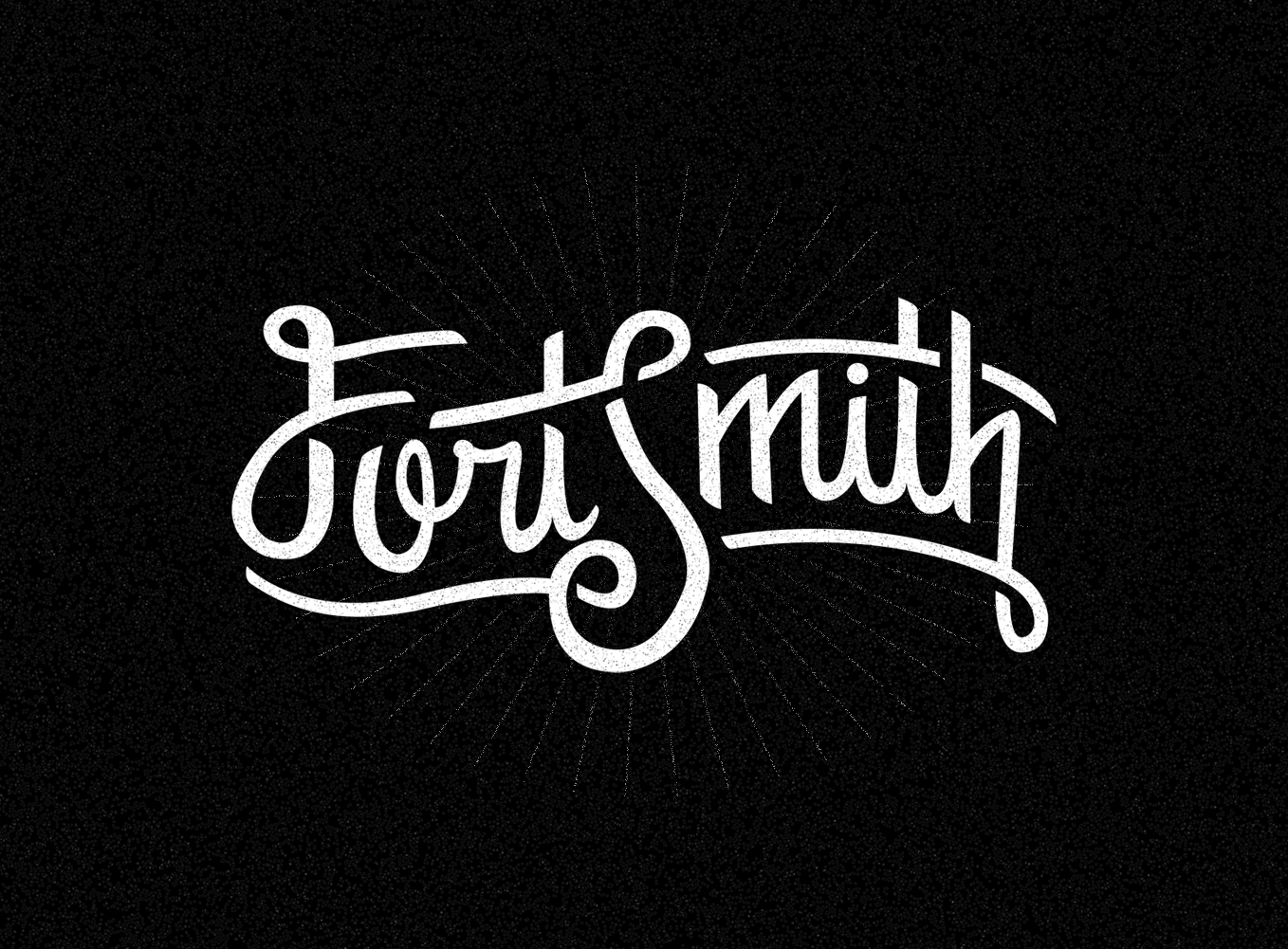 sam broom fort smith logo logotype hand lettering graphic design snapchat geofilter