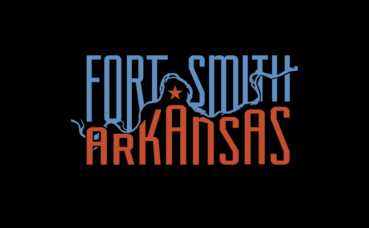 sam broom fort smith arkansas snapchat geofilter blue orange graphic design