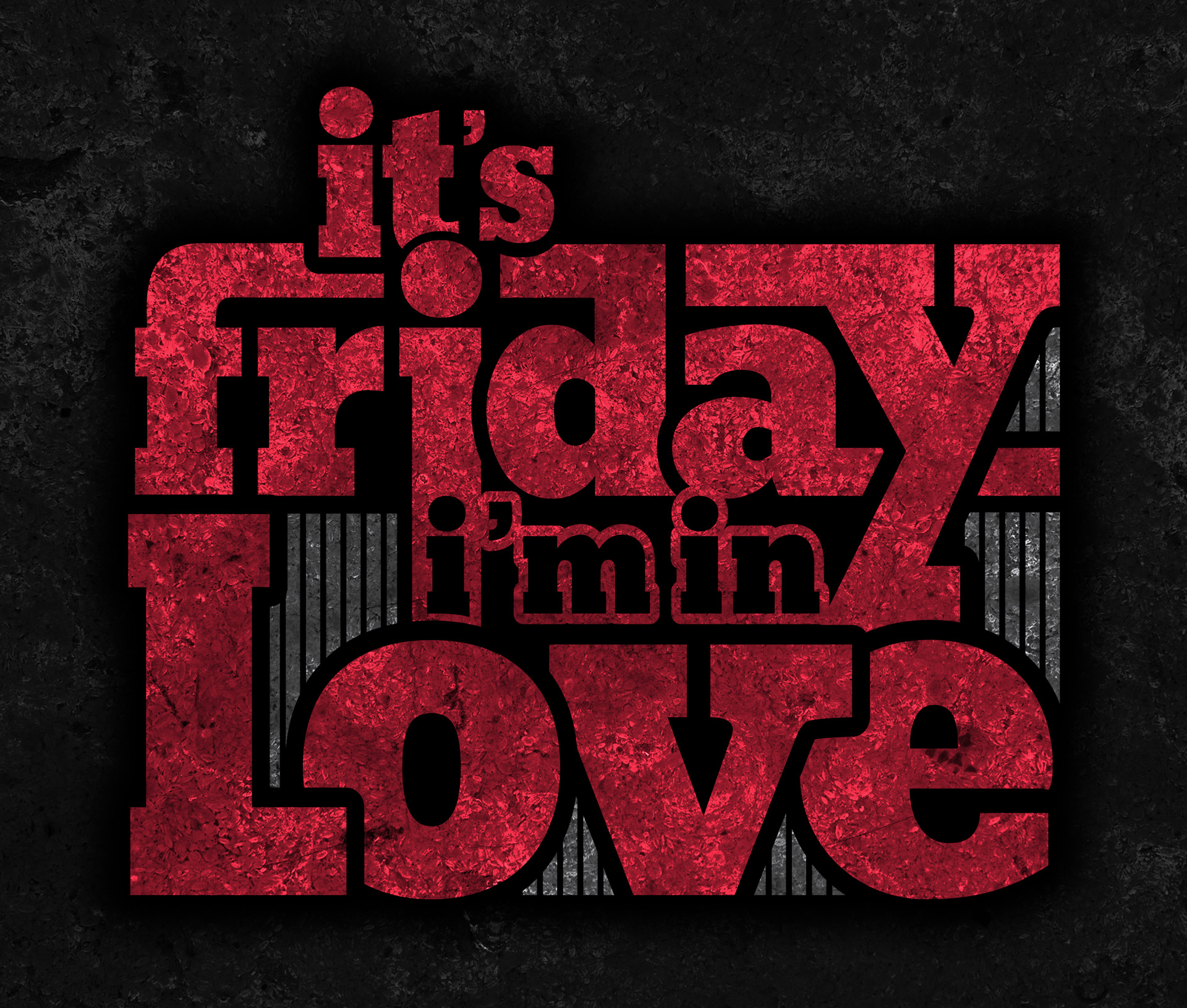 sam broom graphic design it's friday I'm in love typography the cure