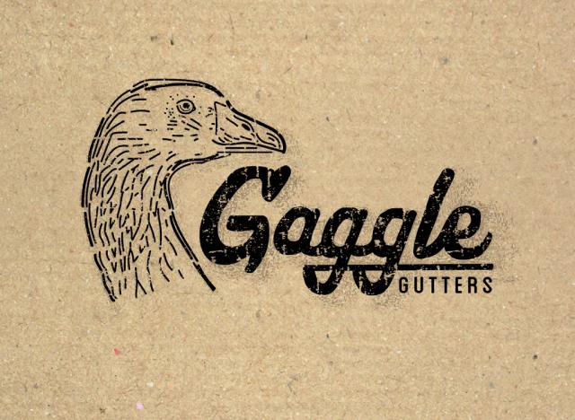 sam broom gaggle gutters goose geese logo logotype branding