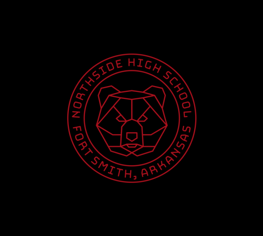 Sam Broom northside high school fort smith arkansas bear geometric badge logo graphic design