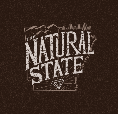 sam broom the natural state arkansas illustration lettering graphic design fayetteville fort smith little rock diamond